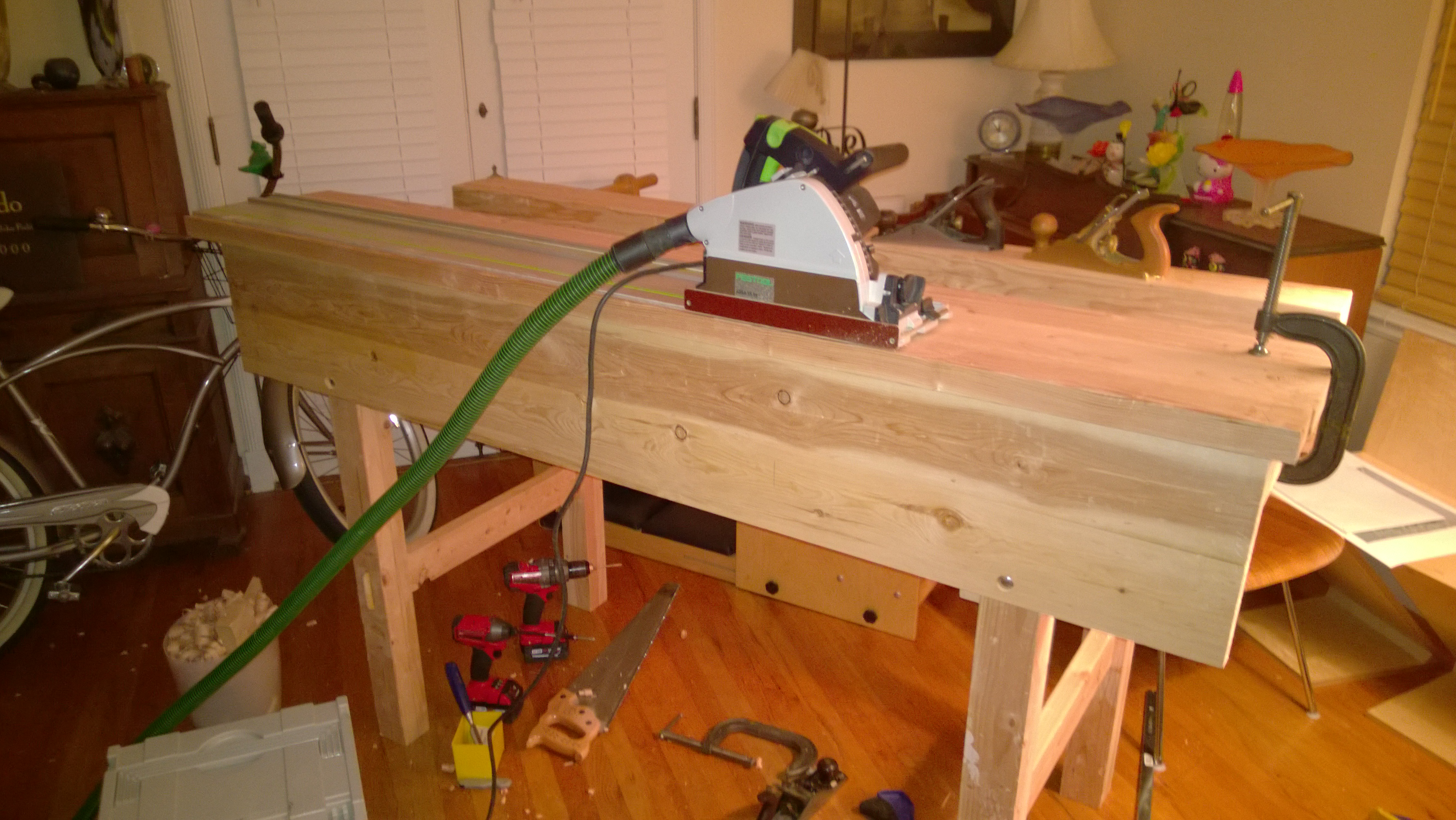 Phenomenal A Hand Tool Workbench Based Off Of Paul Sellers Plans Onthecornerstone Fun Painted Chair Ideas Images Onthecornerstoneorg