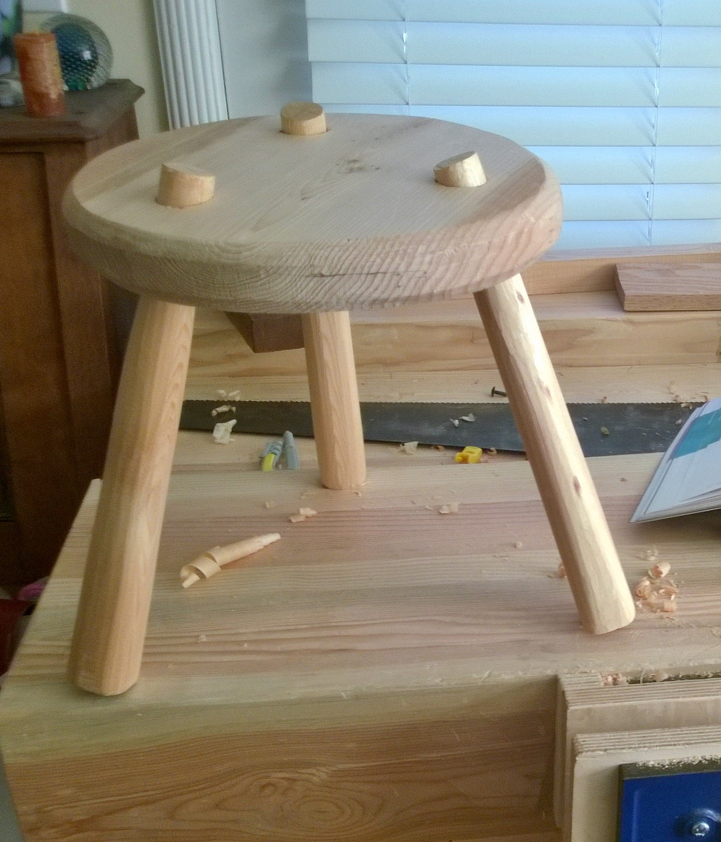 Three Legged Stool From Paul Sellers Book Working Wood 1